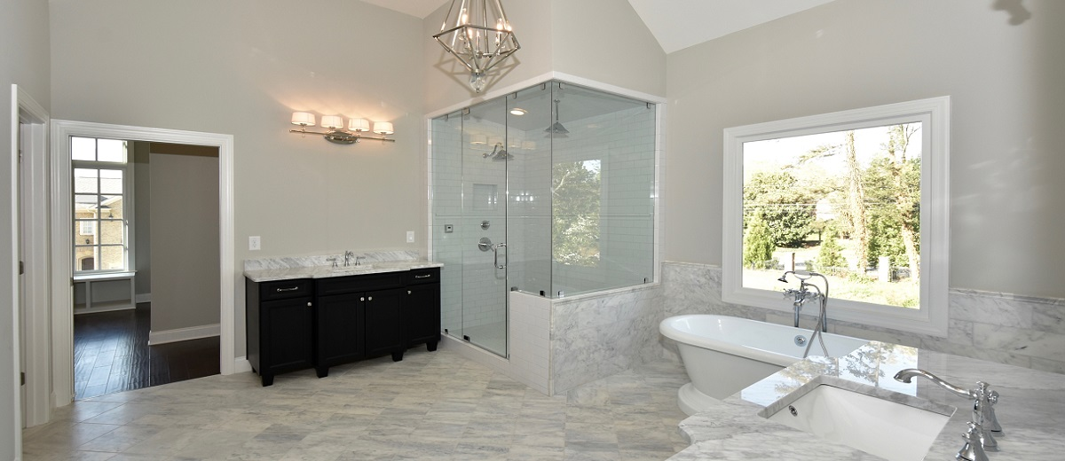 Vaulted Master Bath with Steam Shower
