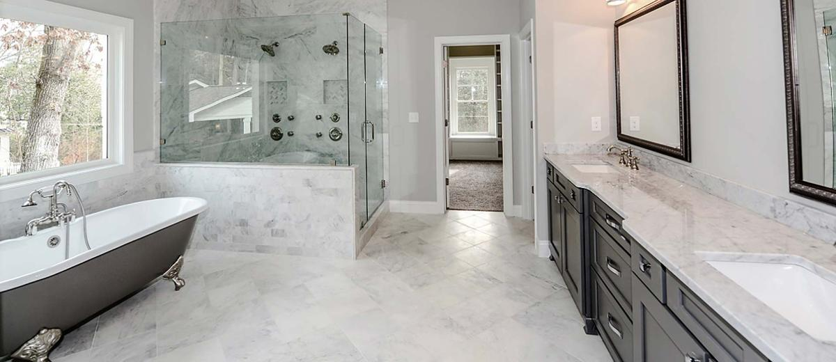 Carrara Marble Bath
