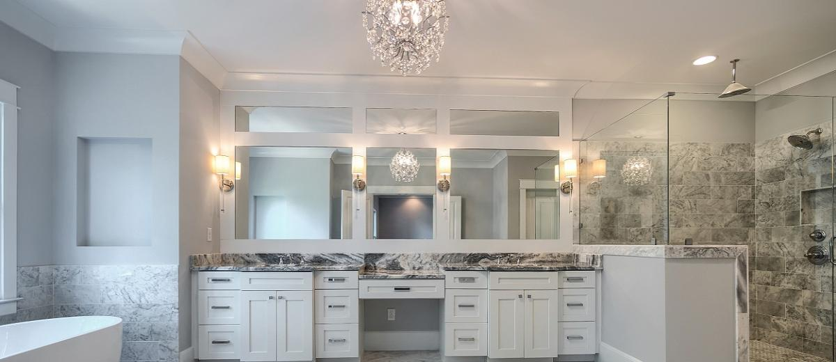 Double Mirrors with Built-In Sconces