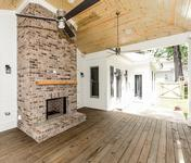 Outdoor Fireplace in Custom Home built by Atlanta Homebuilder Waterford Homes