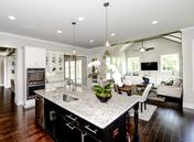 Large Open Kitchen Overlooking Keeping Room at the Callahan by Waterford Homes at Regency Point