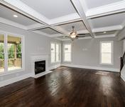 Open Floor plan with Coffered ceilings in Sandy Springs home built by Waterford