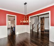 Accent Color in Formal Dining Room in home built by Atlanta Home builder Waterford Homes