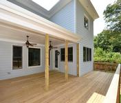 Large Covered Porch  in home built by Atlanta Home Builder Waterford Homes