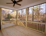 Covered Porch w/ Grilling Deck  in home built by Atlanta Home Builder Waterford Homes