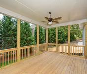 Covered deck in Sandy Springs home built by Waterford Homes