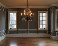 Boxed Design Formal Dining Room in home built by Atlanta Home builder Waterford Homes