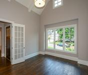 Study w Vaulted Ceilings in Sandy Springs home built by Waterford Homes