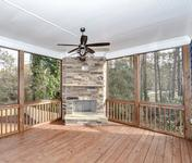 Screened in Covered Porch with FP  in home built by Atlanta Home Builder Waterford Homes